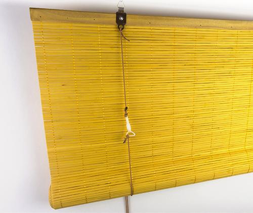 Achterkant bamboe rolgordijn bamboe