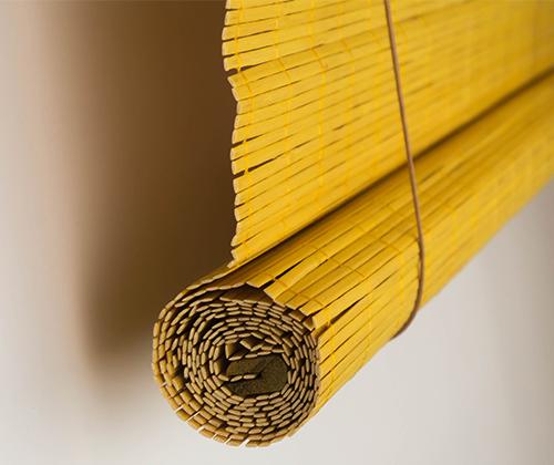Bamboe rolgordijn bamboe detail