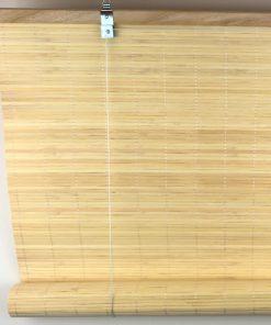 Bamboe rolgordijn natuur uitgerold