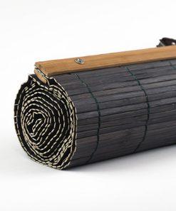 Bamboe vouwgordijn donkerbruin kleur