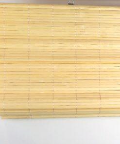 Bamboe vouwgordijn natuur opgevouwen