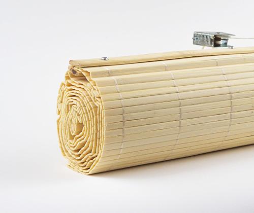 bamboe vouwgordijn natuur gekleurd
