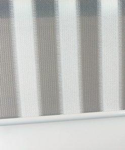 Buitenrolgordijn grijs/wit overzicht