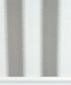 Buitenrolgordijn grijs/wit voorkant