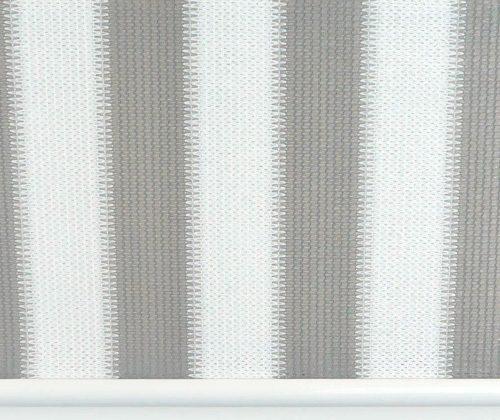 Voorkant van het buitenrolgordijn grijs/wit