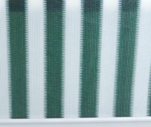 Overzicht van het buitenrolgordijn groen/wit