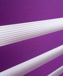 Detailfoto van het duo rolgordijn paars
