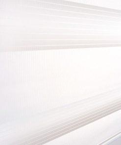 Detailfoto van het duo rolgordijn wit