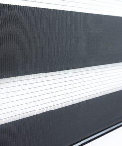 Duo rolgordijn zwart voorkant