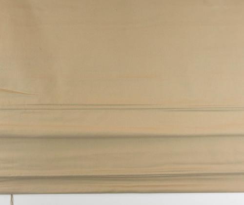 Kleurfoto van het vouwgordijn beige