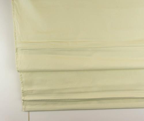 Detailfoto van het vouwgordijn crème