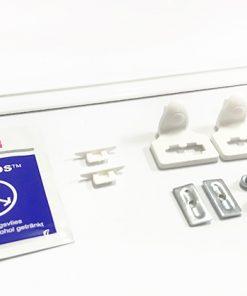 Plissé gordijn onderdelen, monteren zonder schroeven • Raamdecoland