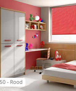 Aluminium jaloezie - Kinderkamer - J50 - Rood