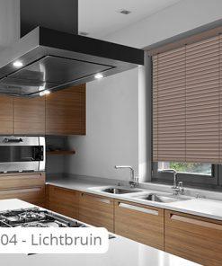 Houten jaloezie 50 mm modern - J04 - Lichtbruin