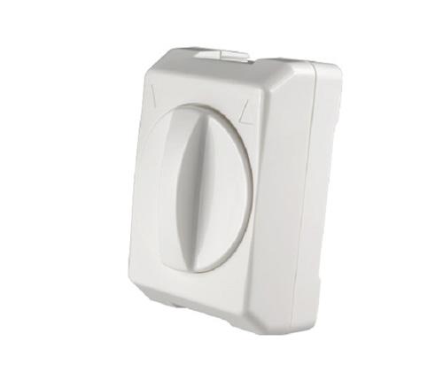Een witte opbouwschakelaar voor buismotor