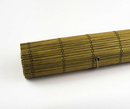 Bamboe rolgordijn goudbruin